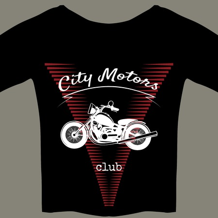 cooled: Motorcycle design template for t-shirt Illustration