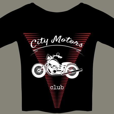 T-Shirt-Vorlage Für Motorrad-Club-Mitglied Lizenzfrei Nutzbare ...