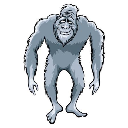 yeti: Bigfoot illustration Illustration