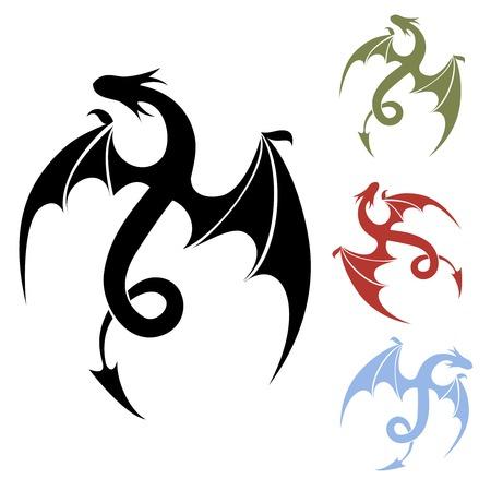 satanas: Icono de drag�n Vectores