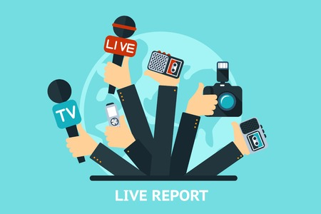 reporters: live report concept