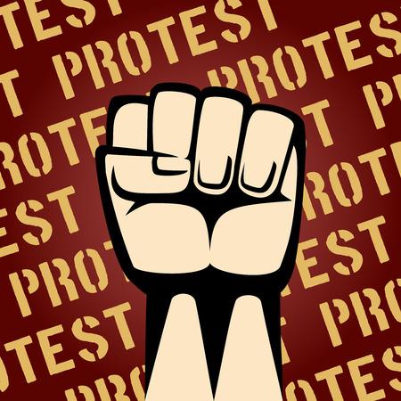 insurrection: Fist Up Protest Poster Illustration