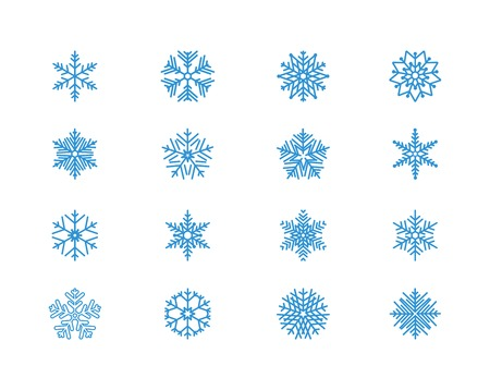 winter wonderland: Snowflake icons