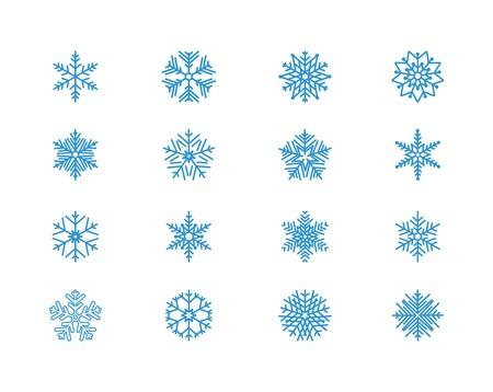 snowflakes: Snowflake icons