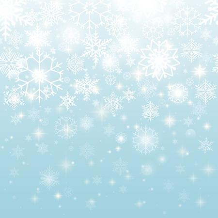 Beautiful Snowflakes in Seamless Pattern Design
