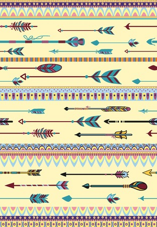 aligned: Ethnic Patterns with Arrows