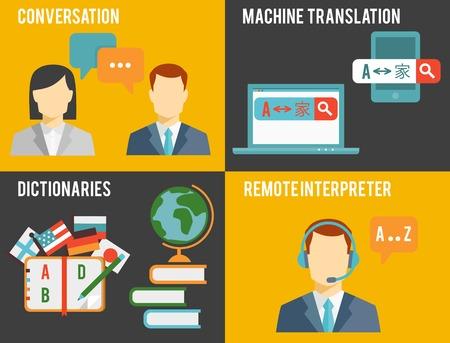 conversational: Foreign Language Translation Concept Graphics