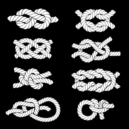 mountaineering: Rope Knots Icons Illustration