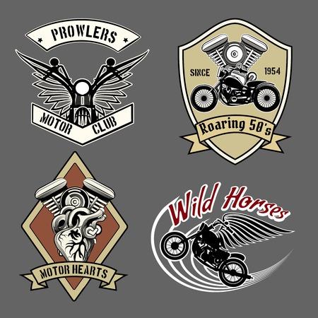 rider: Etiquetas moto vintage