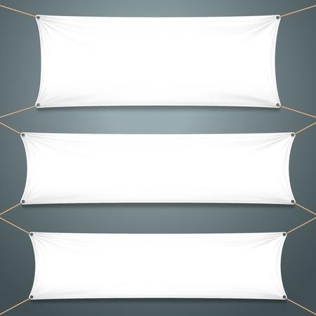 nylon string: Empty White Banners