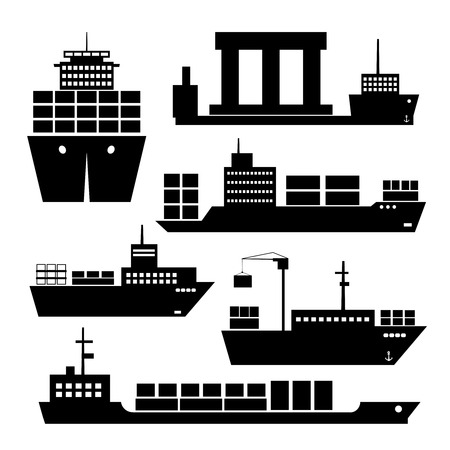 merchant: Transportation and shipping icons Illustration