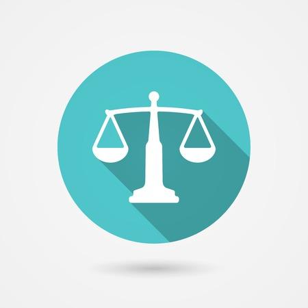 honestidad: escalas icono de equilibrio, armon�a concepto