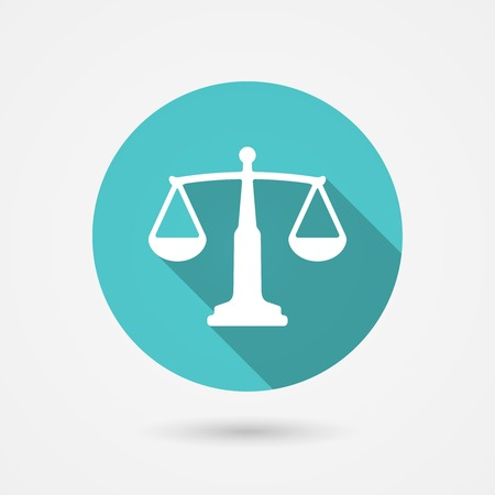 trial balance: scales balance icon, harmony concept