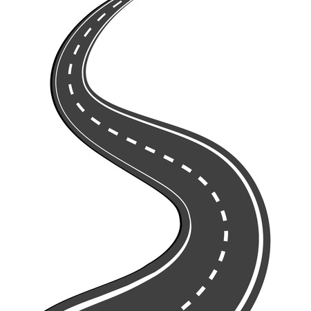 in curved: Winding road