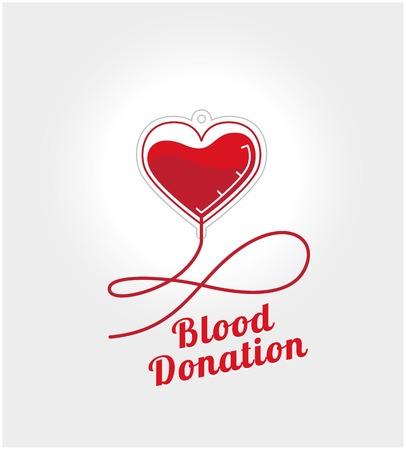 血を寄付します。