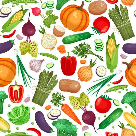 Vegetable organic food seamless background