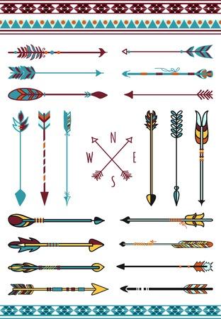 poison arrow: Indian arrows for hipster decor