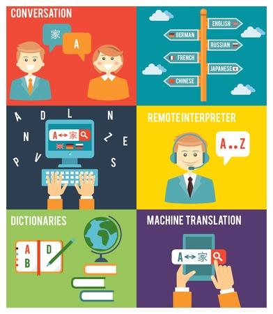 外国語を学ぶ  イラスト・ベクター素材