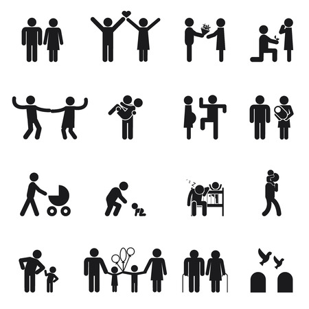 figura humana: Iconos vectoriales familia