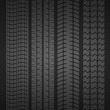 huellas de neumaticos: Juego de neum�ticos de ruedas