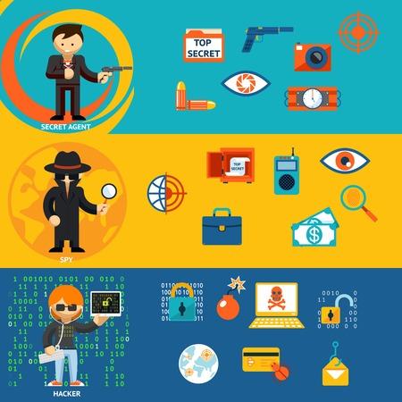agent de s�curit�: Spy, Secret Agent et cyber personnages de pirates