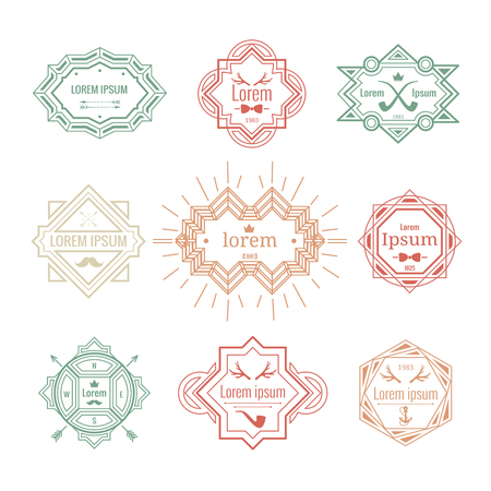 hipster vintage labels Vector