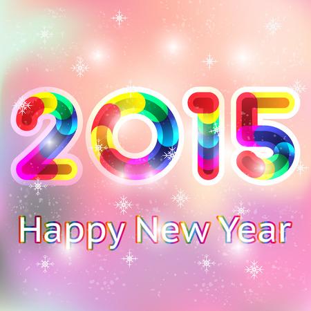 Happy New Year 2015 card Vector