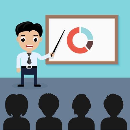 conference hall: Businessman presentation