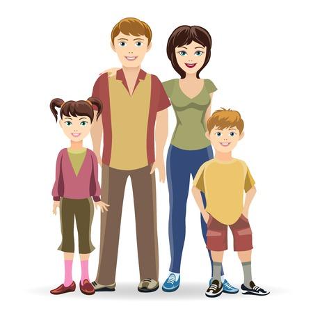 familia unida: Familia feliz