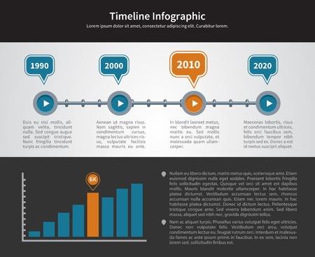 inforgraphic: Simple Timeline Inforgraphic Design