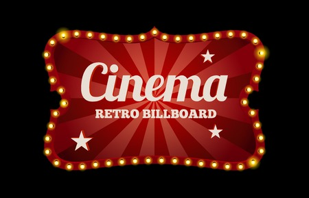 movie theater: Cinema sign or billboard