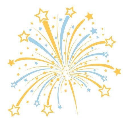 estrella caricatura: Vector de fuegos artificiales Vectores