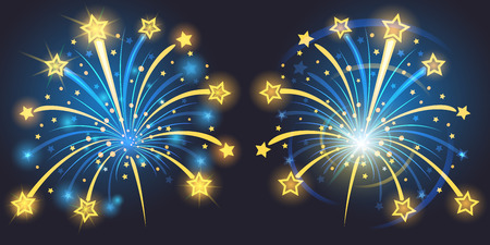 Fireworks vives Banque d'images - 34568276