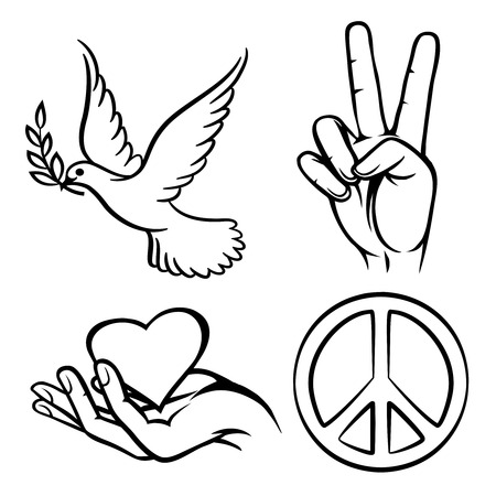 dove with olive branch: Peace symbols
