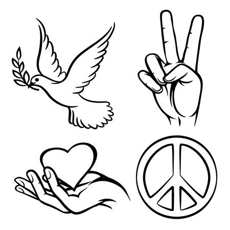simbolo de la paz: Símbolos de la paz Vectores