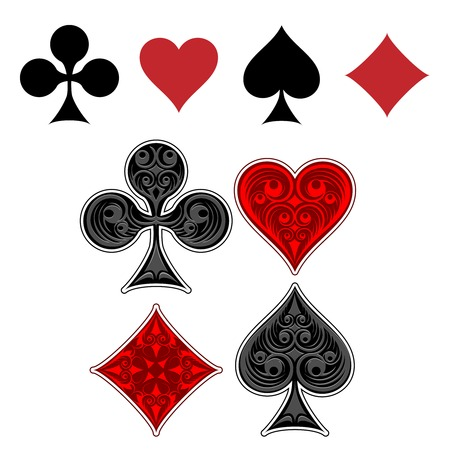 card suit: Playing card suit icons