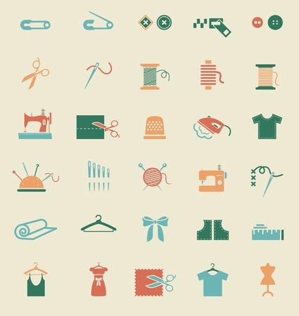kit de costura: El equipamento de costura y los iconos de la costura
