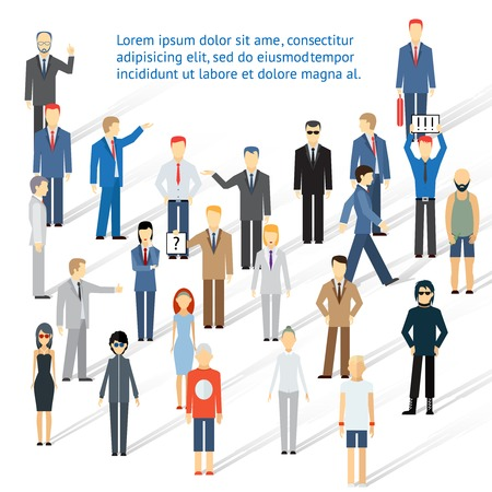 Crowding group of people Vector