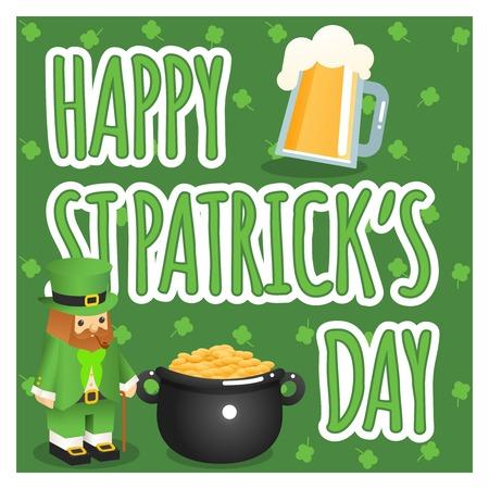 chope biere: St. Patricks affiche de jour