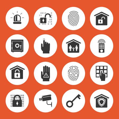 remote lock: Iconos de la seguridad casera