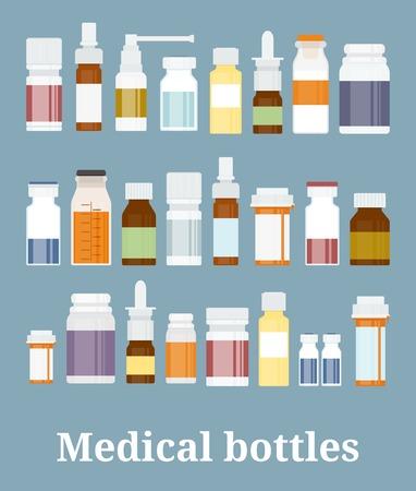 botella: Colecci�n Botellas de la medicina Vectores