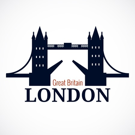 london tower bridge: London Bridge Logo Illustration