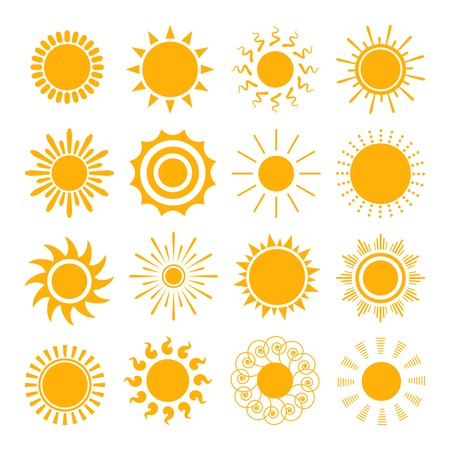Ícones laranja Sun