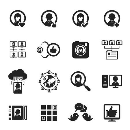 lan: Social media and social network icons