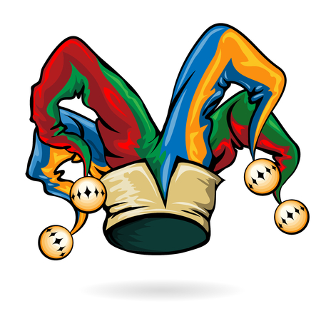 Gekleurde vector clownshoed Stock Illustratie