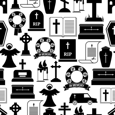 tombstone: RIP and funeral background pattern