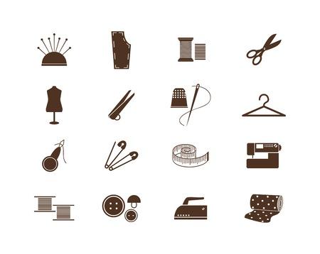 Naaien apparatuur pictogrammen