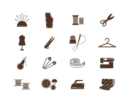 Sewing equipment icons