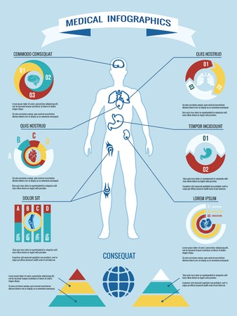 Human body medical infographics