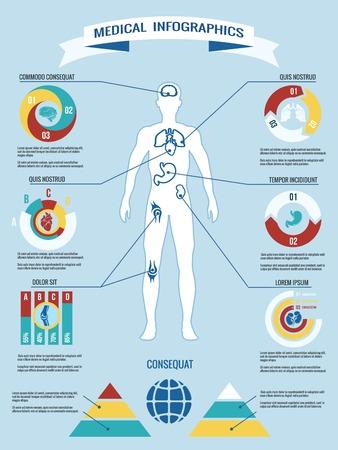 Human body medical infographics